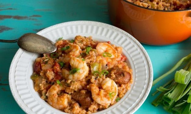 Instant pot shrimp Jambalaya