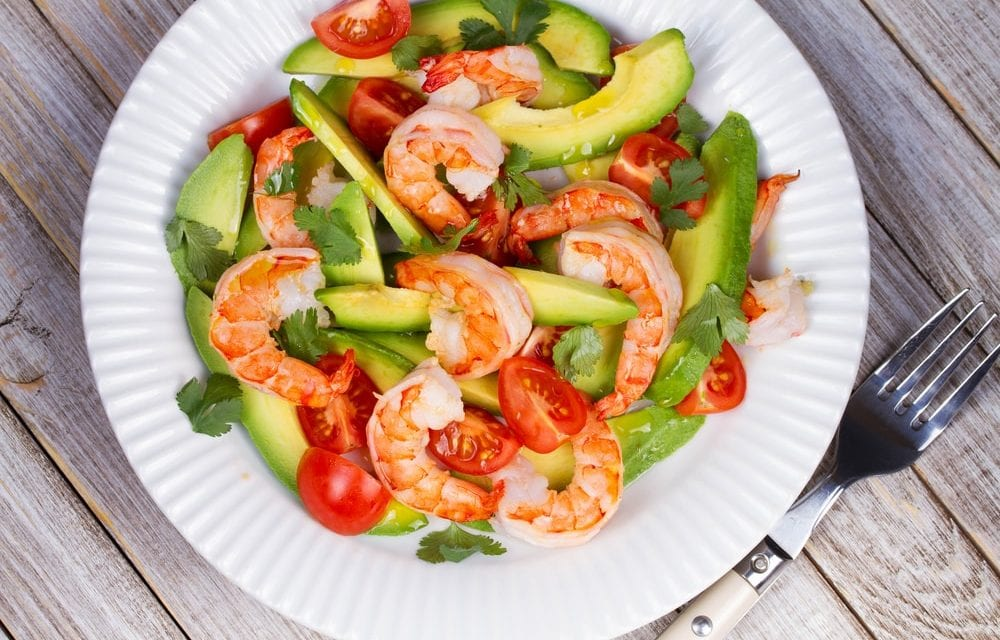 Instant pot Avocado and Shrimp Salad