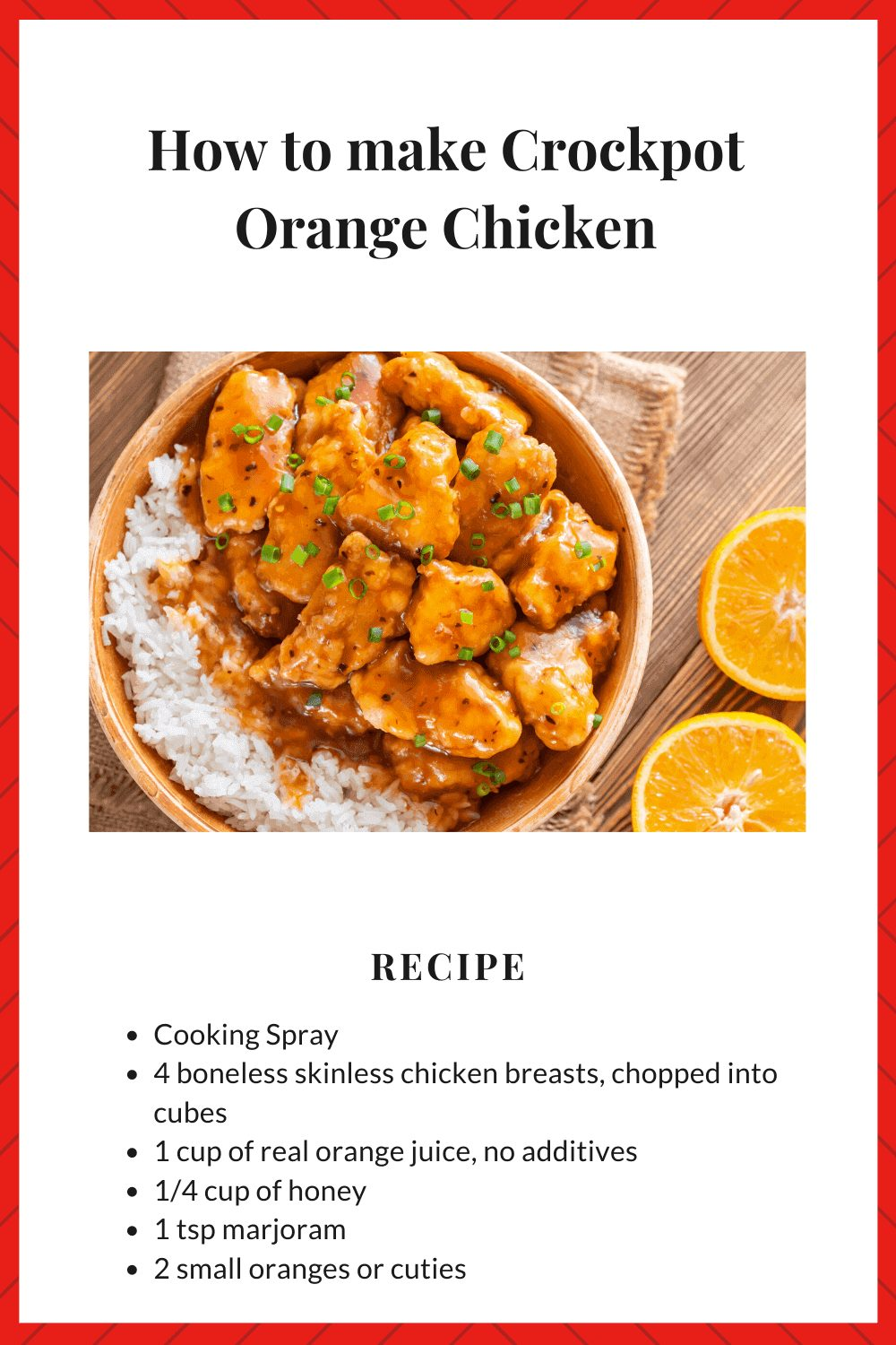 crockpot orange chicken ingredients