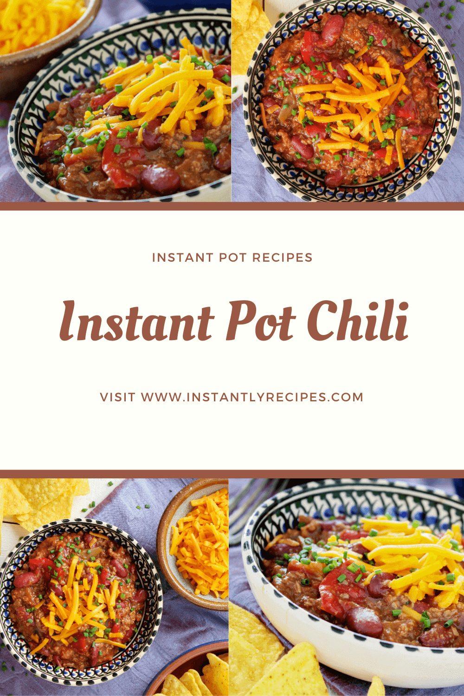 instant pot chili recipe pinterest post