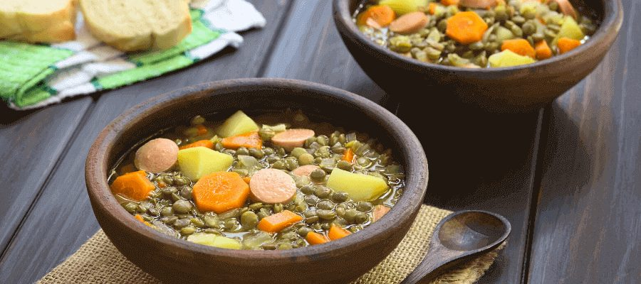 Delicious vegetable soup crock pot
