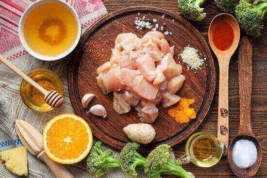 all  ingredients that you need to make orange chicken