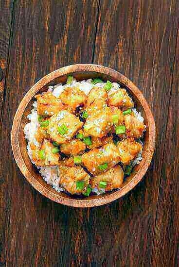 Delicious orange chicken