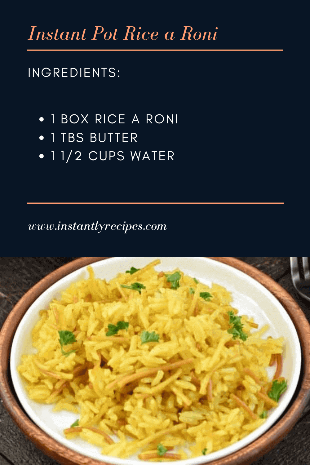 all ingredients you need to make this instant pot rice a roni recipe